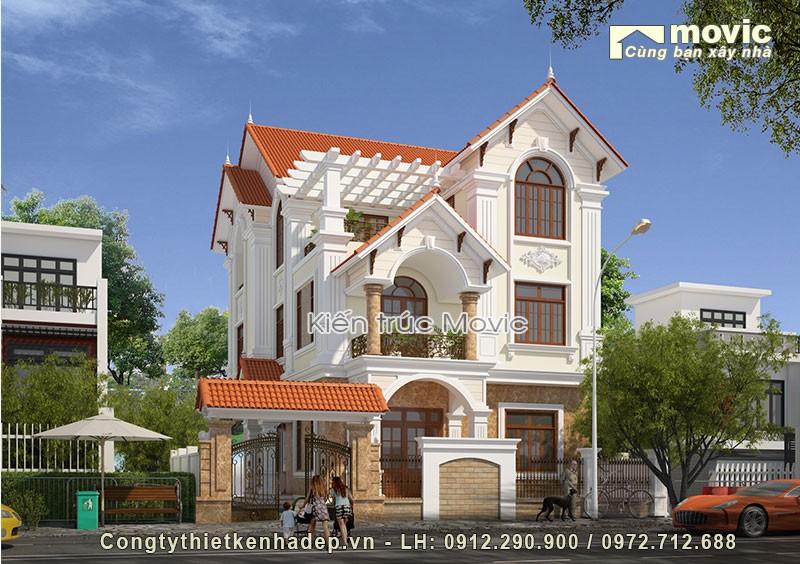 Biệt thự 3 tầng mái thái 120m2