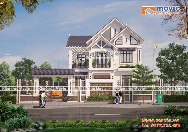 Mẫu nhà 2 tầng đẹp lộng lẫy phong cách tân cổ điển