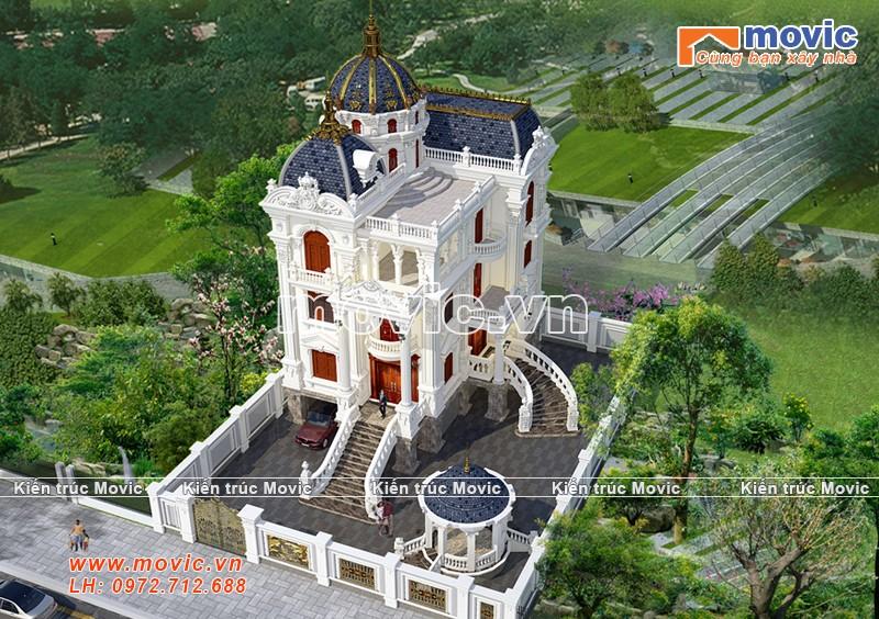 Mẫu biệt thự lâu đài 3 tầng đẹp nguy nga - MB19310