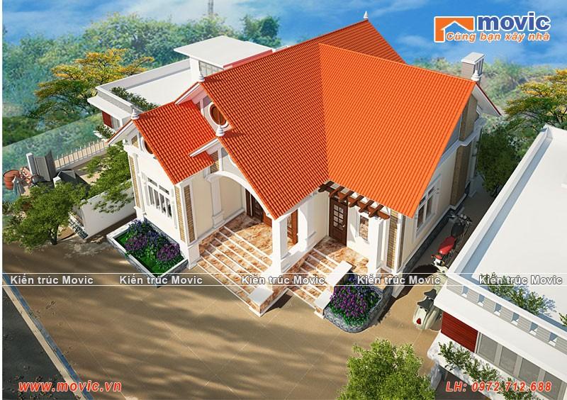 Mẫu nhà cấp bốn 3 phòng ngủ mái thái, diện tích 160m2