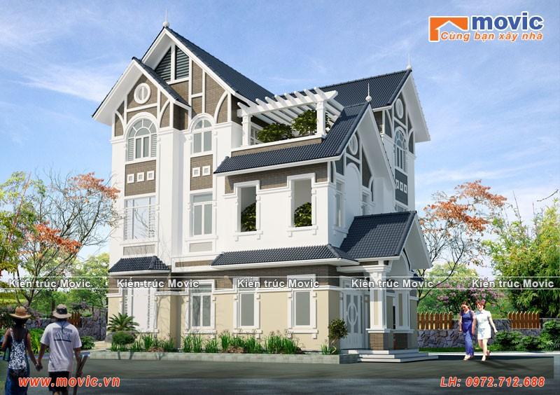 Mẫu biệt thự hiện đại 3 tầng đẹp