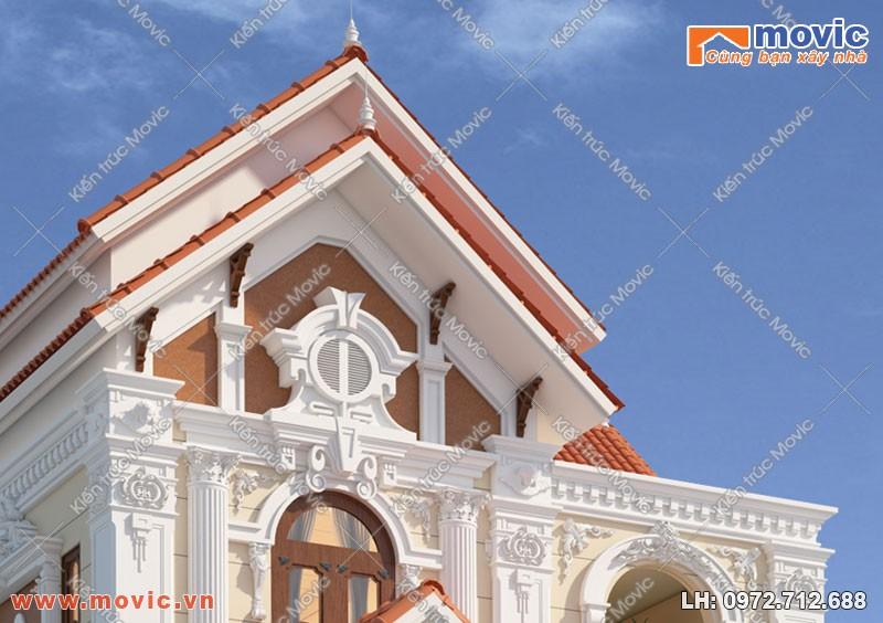 Chi tiết trong công trình nhà 3 tầng cổ điển Pháp