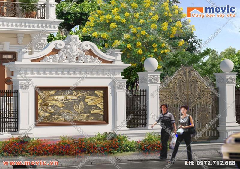 Cổng, tường rào biệt thự 3 tầng