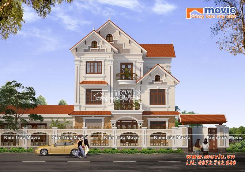 Mẫu nhà 3 tầng hiện đại đẹp mái thái, lộng lẫy sang trọng