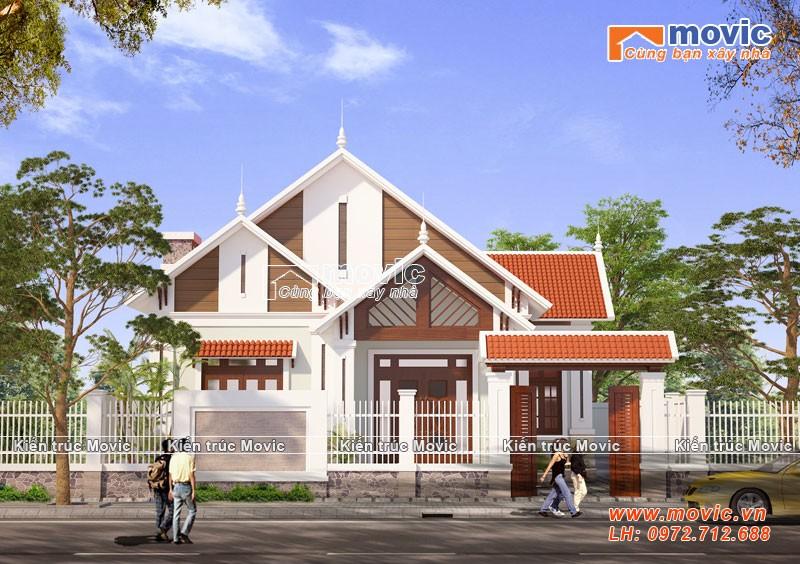 Mẫu nhà 1 tầng mái thái hiện đại đơn giản đẹp