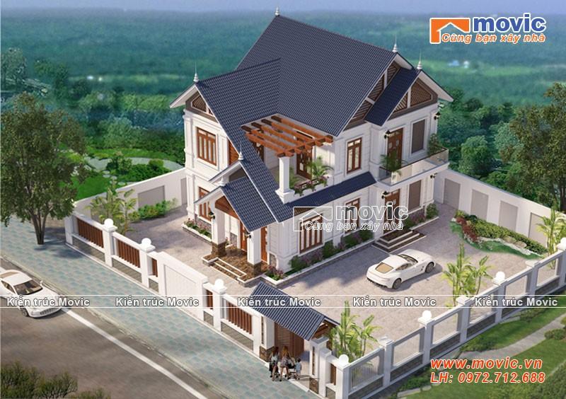 Mẫu nhà 2 tầng mái vát hiện đại, giá rẻ, đẹp mộng mơ
