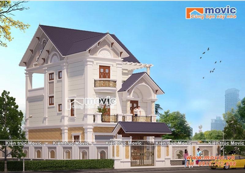 Vẻ đẹp hoàn hảo của căn biệt thự mái thái 3 tầng tân cổ điển