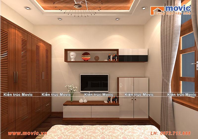 Phối cảnh nội thất phòng ngủ mẫu nhà 2 tầng