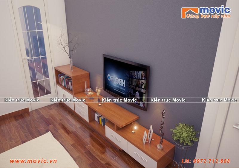 Phối cảnh nội thất phòng ngủ biệt thự hiện đại 3 tầng