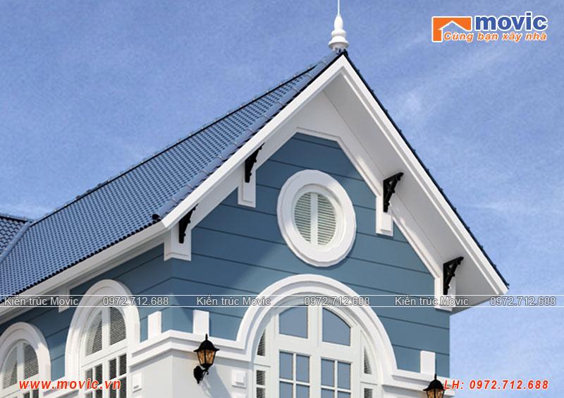 Nhà 3 tầng chữ L mái thái hiện đại đẹp diện tích 130m2