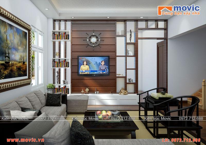 Phòng khách mẫu biệt thự mái thái 3 tầng 100m2