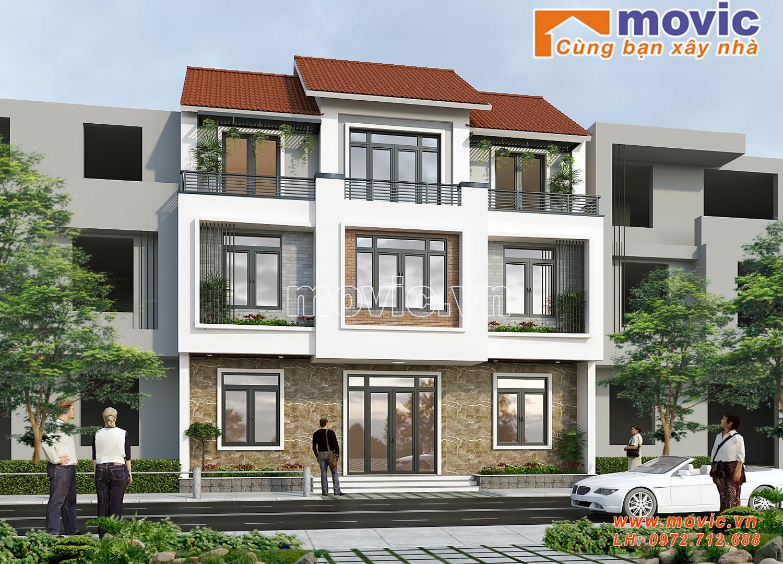 Biệt thự 3 tầng đẹp hiện đại mái thái