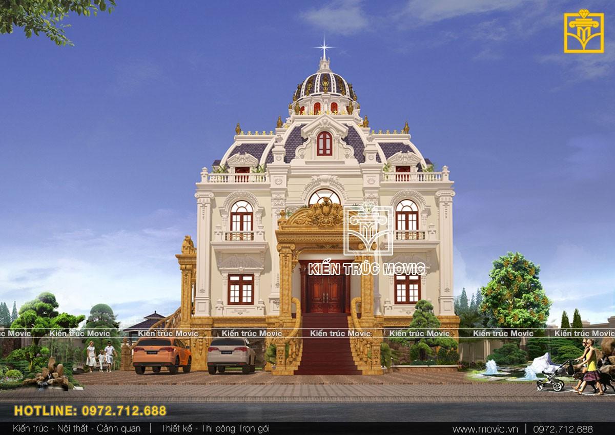 Mẫu biệt thự kiểu Pháp thể hiện nét đẹp kiến trúc thế kỷ 20