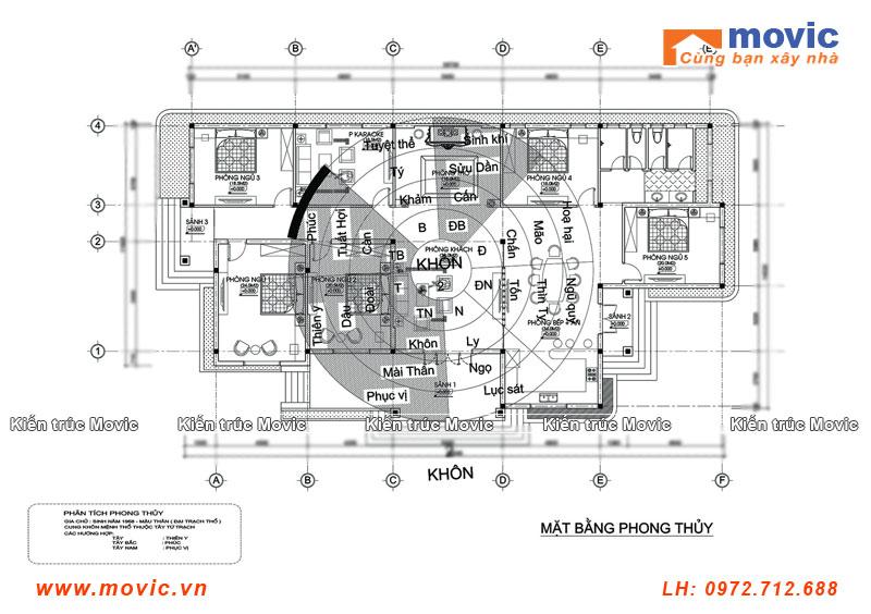 Mẫu biệt thự 1 tầng MB1606