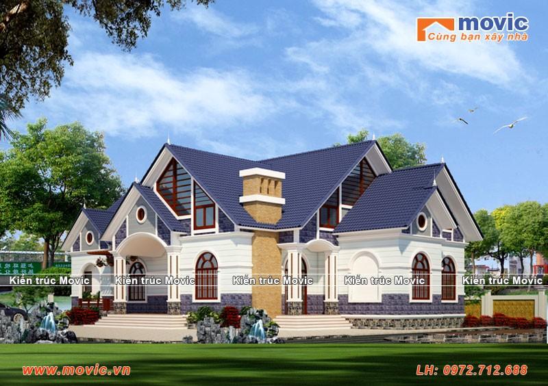Mẫu tham khảo nhà 1 tầng phong cách hiện đại mái thái
