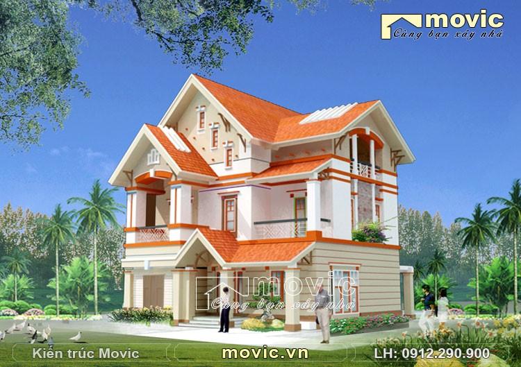 Mẫu nhà hiện đại 3 tầng mái thái sang trọng đẹp