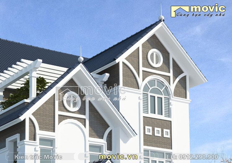 Mẫu nhà ở 3 tầng hiện đại mái thái đẹp mộng mơ