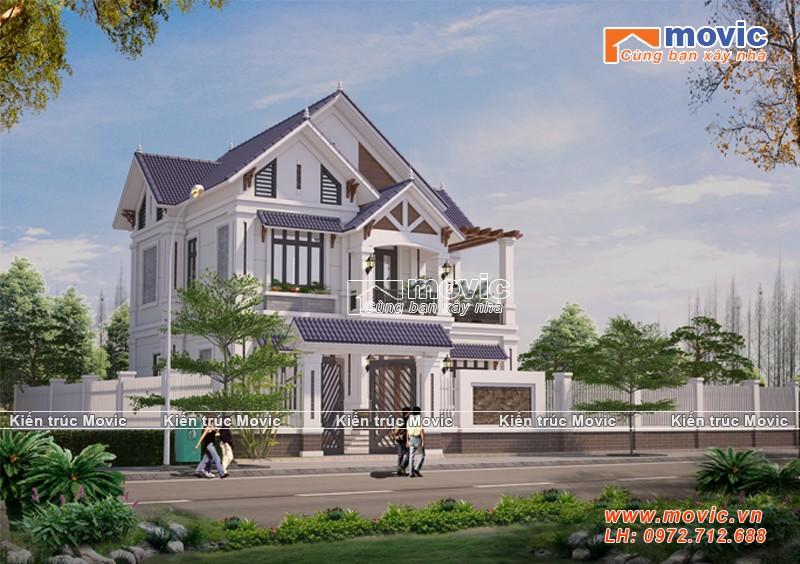 Nhà 2 tầng đẹp phong cách tân cổ điển sang trọng