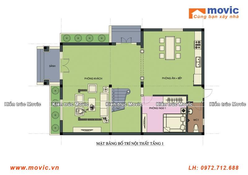 mặt bằng nhà 2 tầng tân cổ điển đơn giản 3 phòng ngủ đẹp