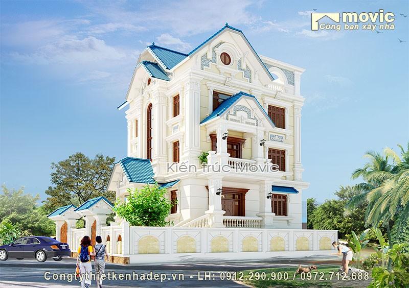 Nhà 3 tầng cổ điển đẹp nguy nga tráng lệ