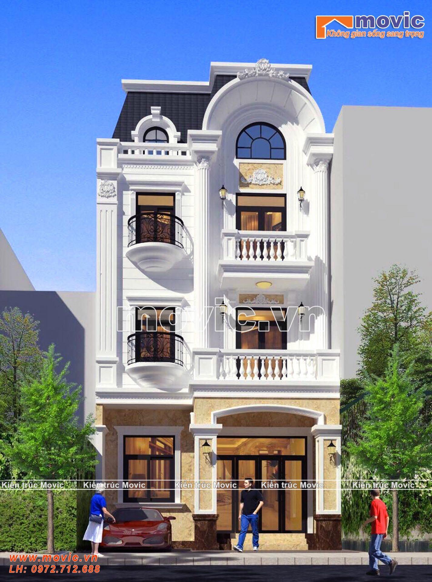 Mẫu biệt thự phố 3 tầng tân cổ điển