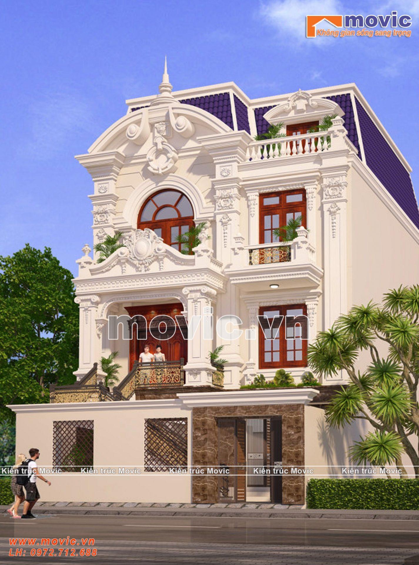 Mẫu biệt thự phố 3 tầng cổ điển