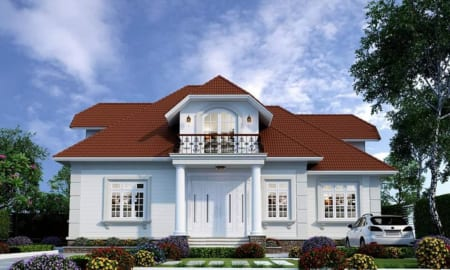 Mẫu nhà vườn 1 tầng đẹp rẻ nhất 2020