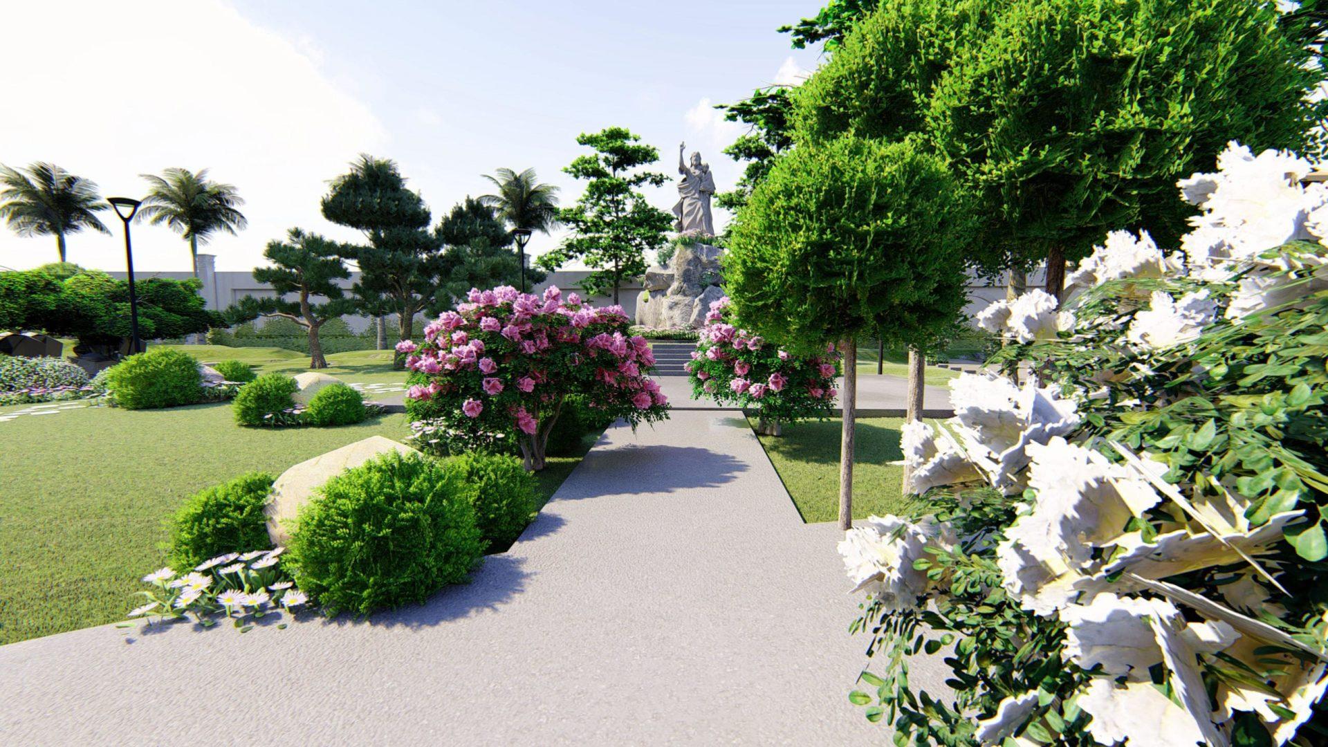 Thiết kế cảnh quan nhà thờ Phú Ốc