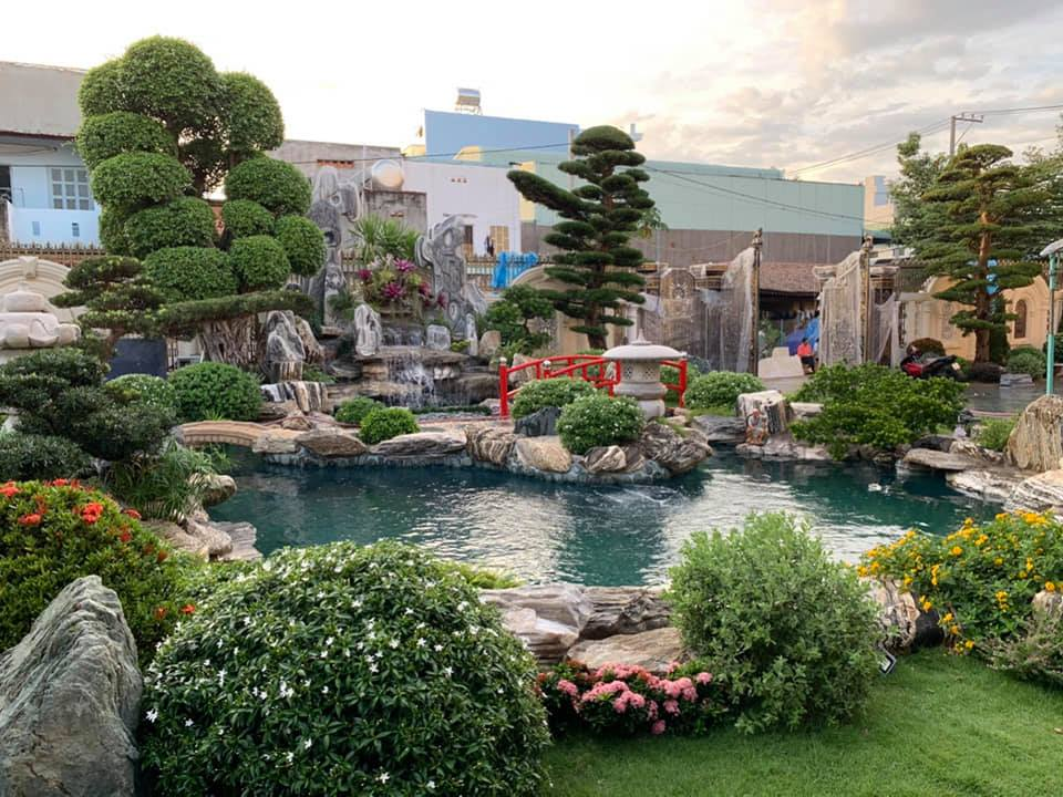 Cảnh quan sân vườn thực tế