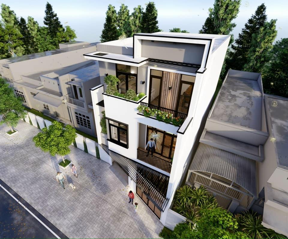 Mẫu nhà lô phố 3 tầng hiện đại